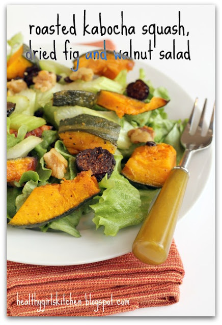 Are Salads a Big Part of Your Life? and a Roasted Kabocha Squash, Dried Fig and Walnut Salad