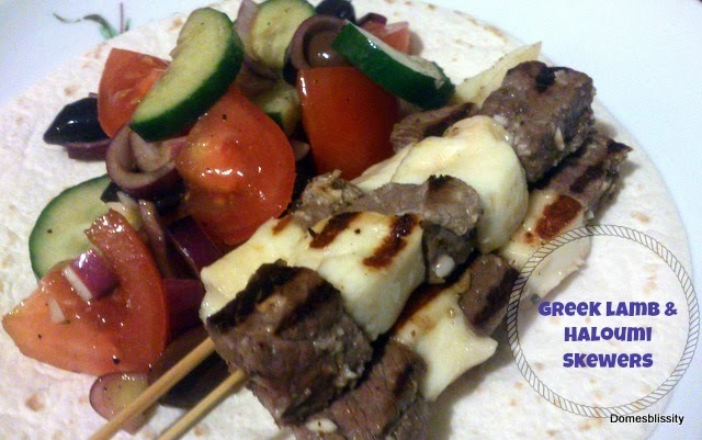 Greek lamb & haloumi skewers