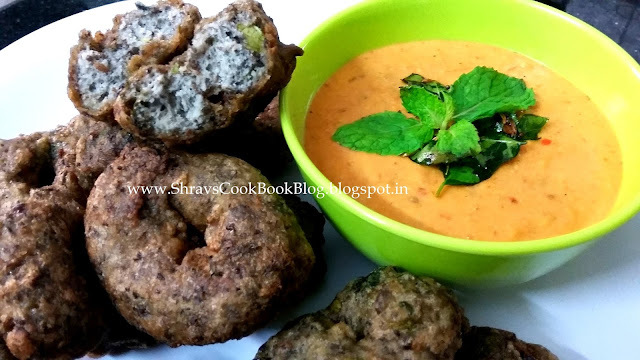 Mint Medu Vada - 3 Tips to make perfectly shaped cripsy Pudina Vadai recipe