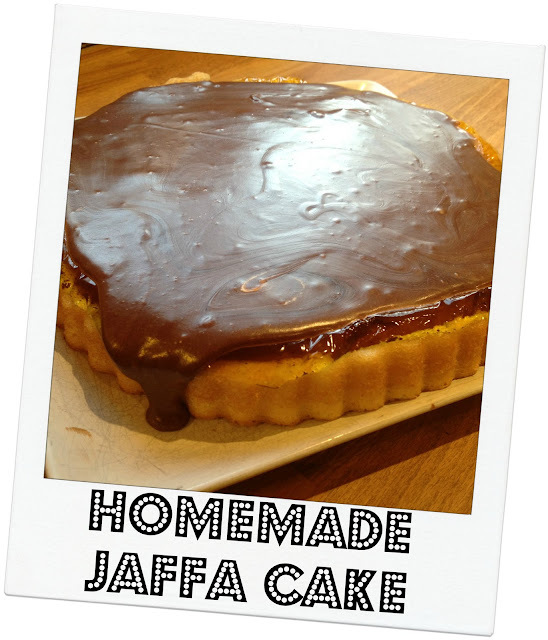 Homemade Jaffa Cake