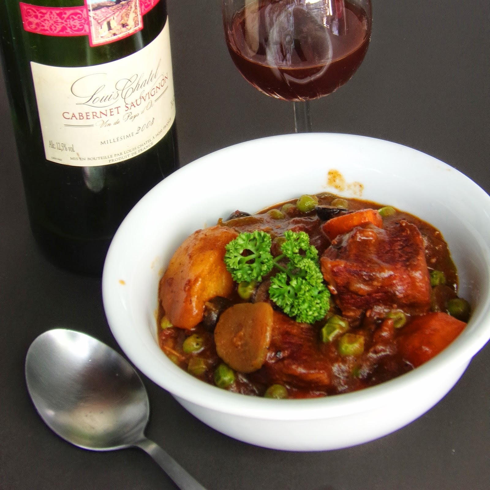 Beef Caldereta with Red Wine Sauce