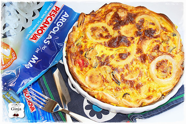 Quiche (light) de frutos do mar
