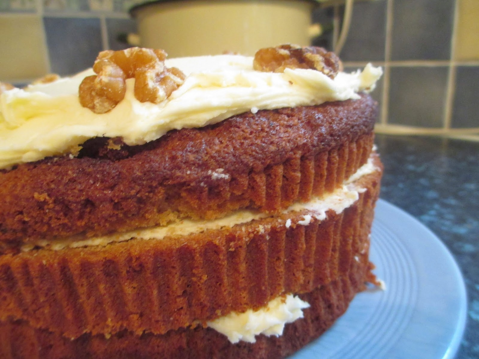 Maple Syrup and Walnut cake