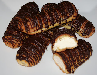 Eclairs med crème chantilly