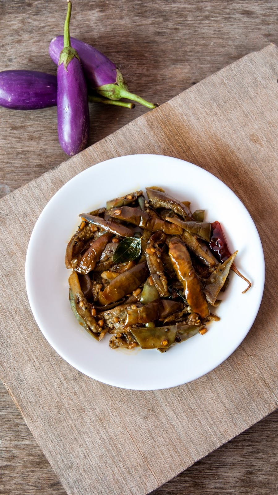Stir Fried Eggplant / Brinjal