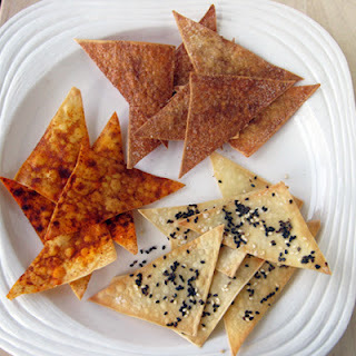Wonton Crisps Four Ways