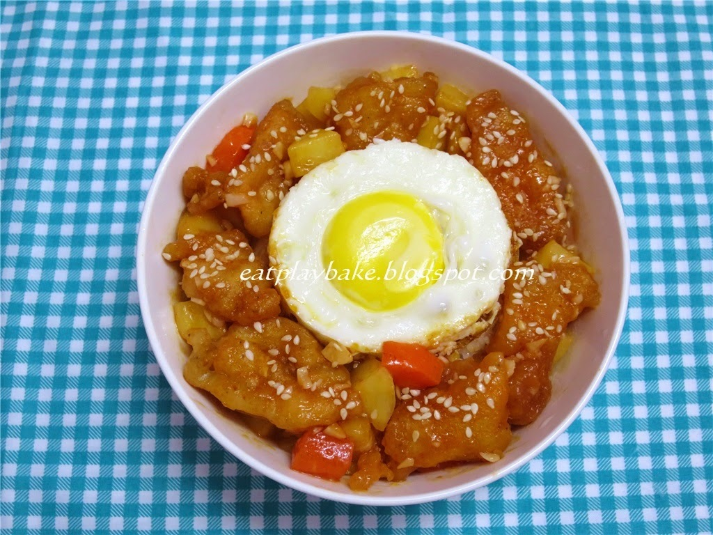 酸甜鱼片饭 Sweet and Sour Fish Fillets with Rice