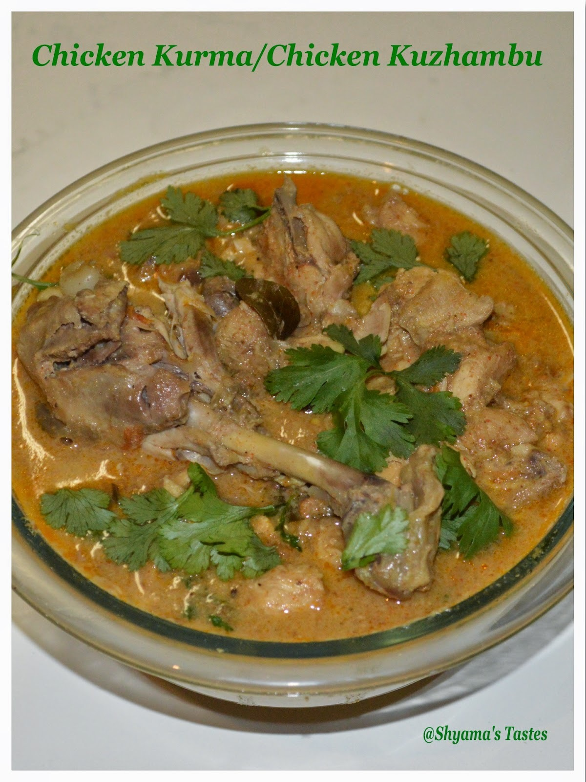 Chicken Kurma/Chicken Kuzhambu