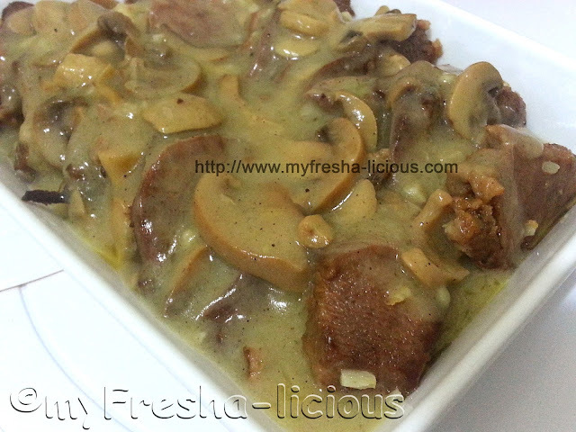 Easy Ox Tongue with Mushroom Sauce