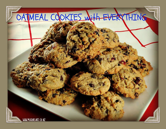 Oatmeal cookies with Everything