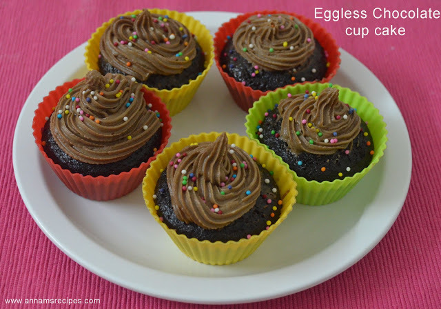 Eggless Chocolate Cup Cake Recipe