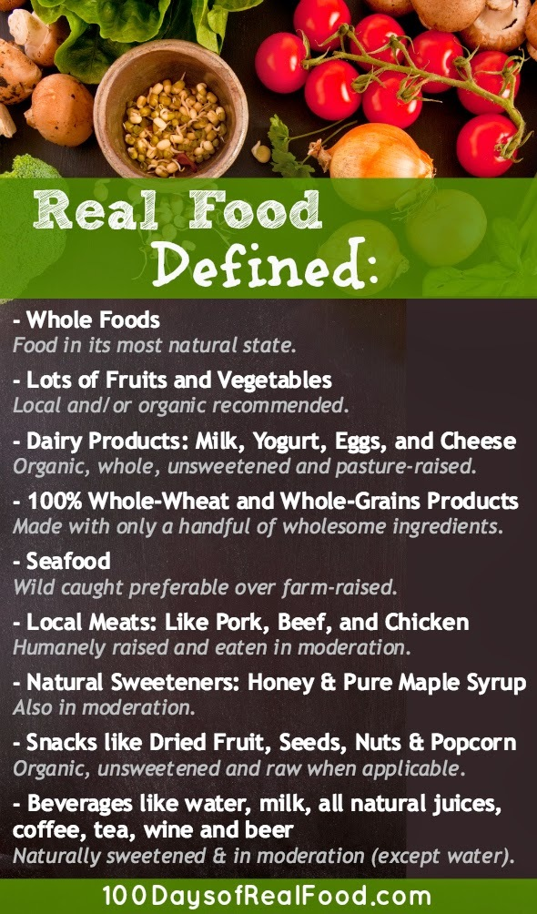 "O que significa ""Real Food"""