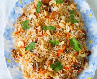 ... |Jack fruit cooked with biryani-spices and layered with basmati rice