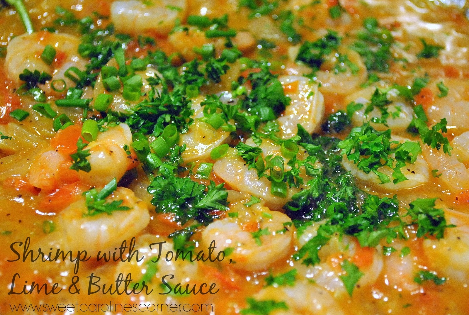 Shrimp with Tomato, Lime & Butter Sauce