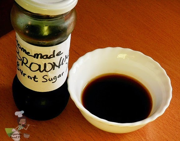 How to make Cake Browning (Homemade Browning or Burnt Sugar syrup)