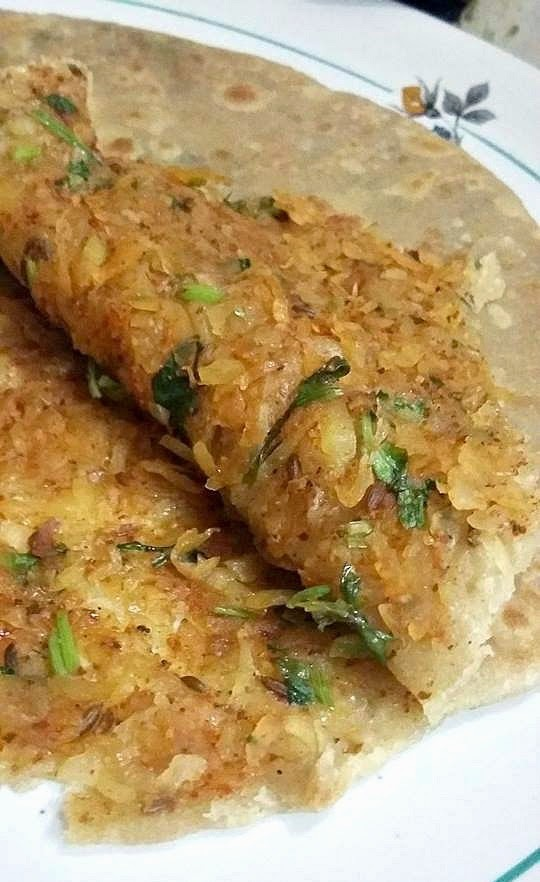 Raw Papaya Stuffed Parathas