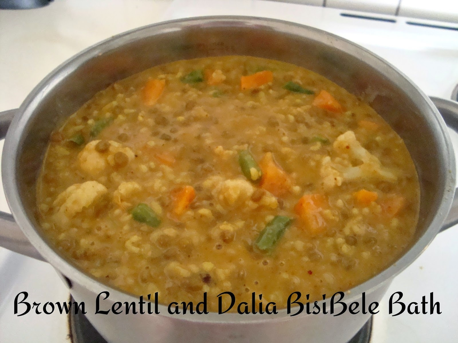 Brown lentil and Dalia BisiBeleBath