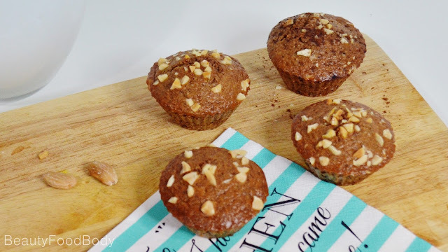 Receta Fit | Muffins de Espelta integral y frutos secos