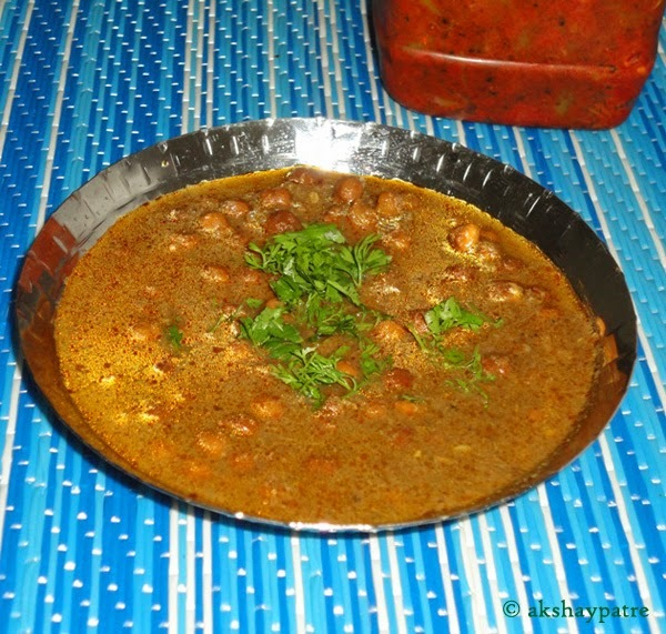 Malvani chana curry - Maharashtrian style chickpea curry