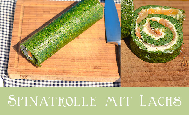Low Carb Spinatrolle mit Lachs