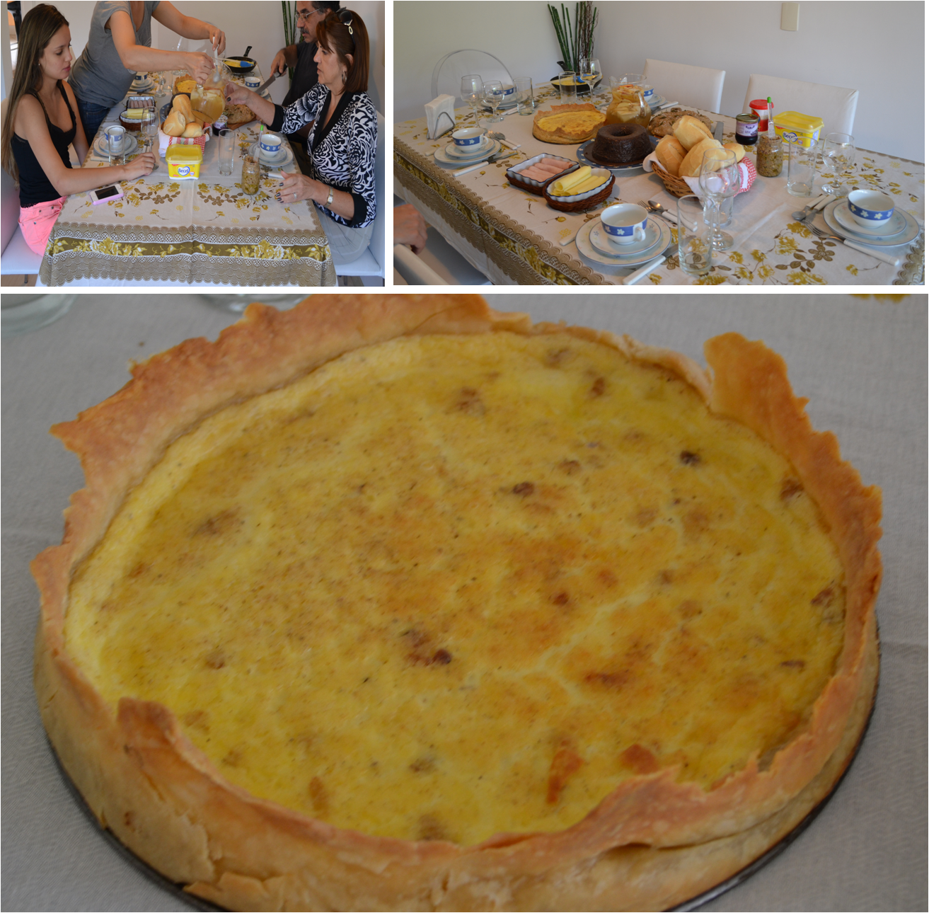 Quiche de Queijo com Bacon
