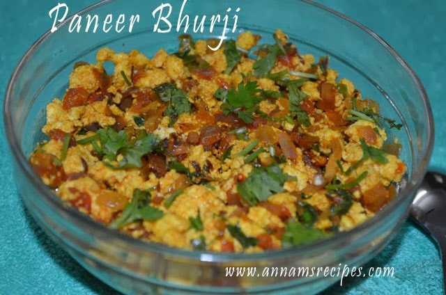 paneer bhurji hindi
