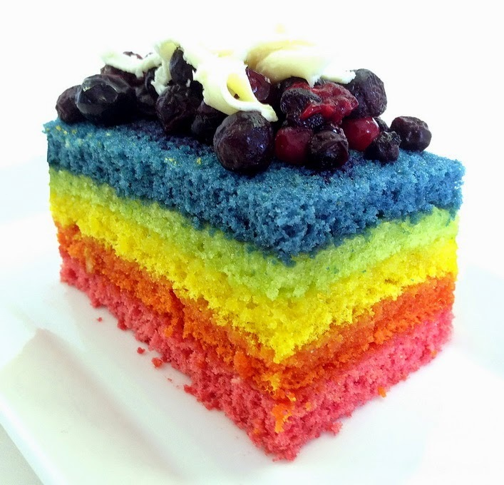 Rainbow in Forest Cake