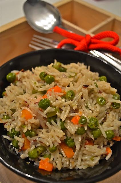 Veg - Pulao / Vegetable Pulav / Vegetable Rice (Cooker Method)