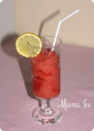 Miami ice (Melon och romdrink)