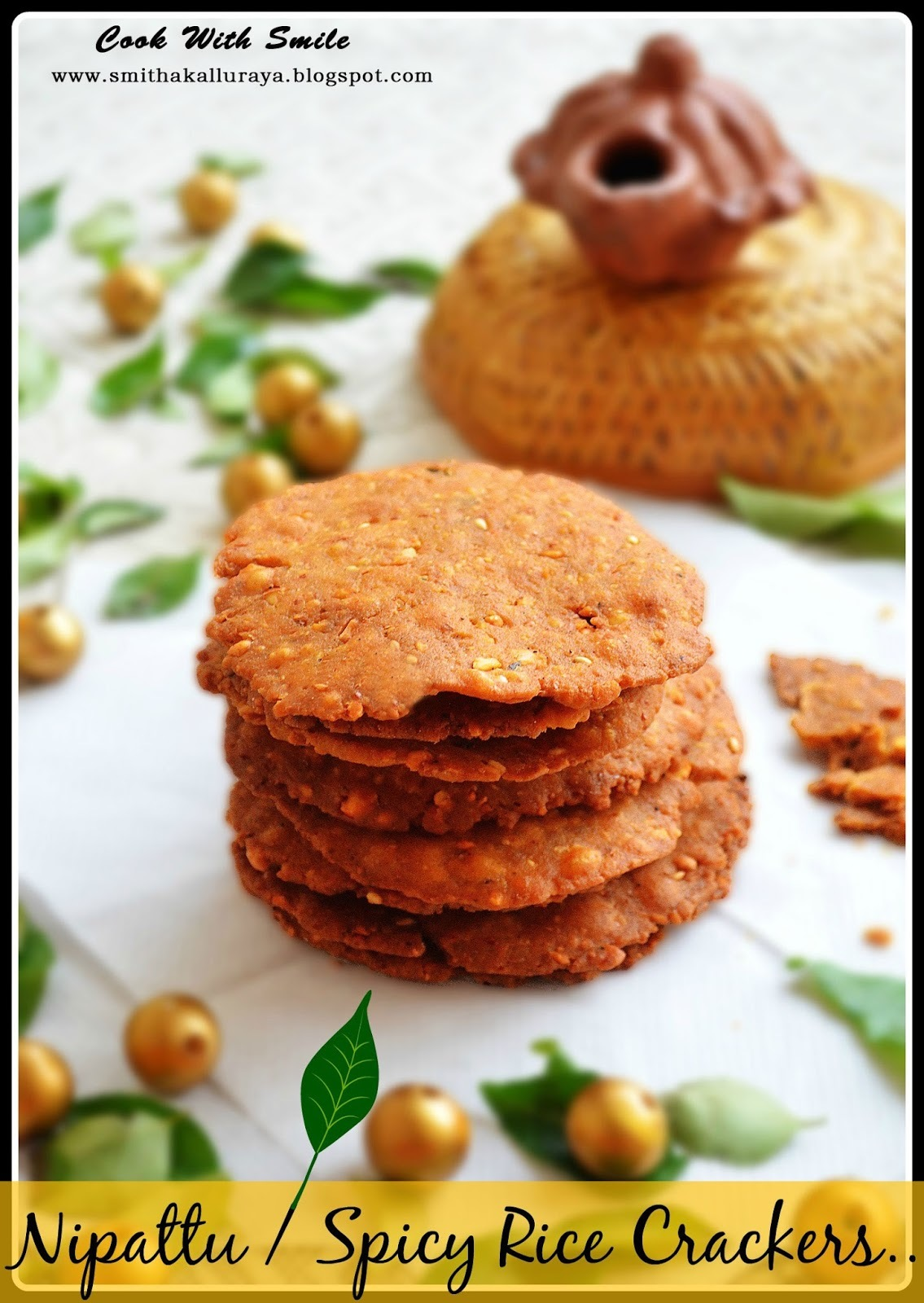 NIPPATTU / THATTAI / CHEKKALU RECIPE - SPICY RICE CRACKERS