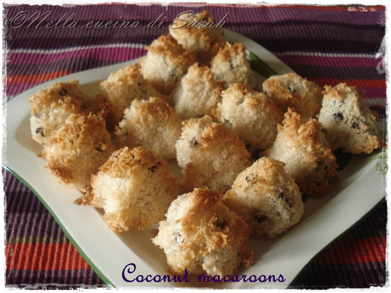 Buon blog compleanno, Stefania! ~ Coconut macaroons
