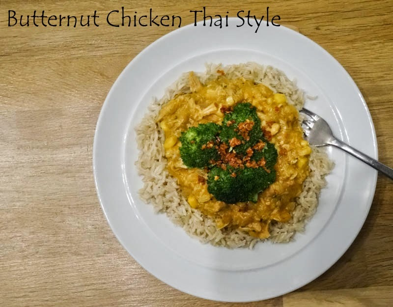 Butternut Chicken Thai-Style and the Slow Cooked Challenge - February 2015