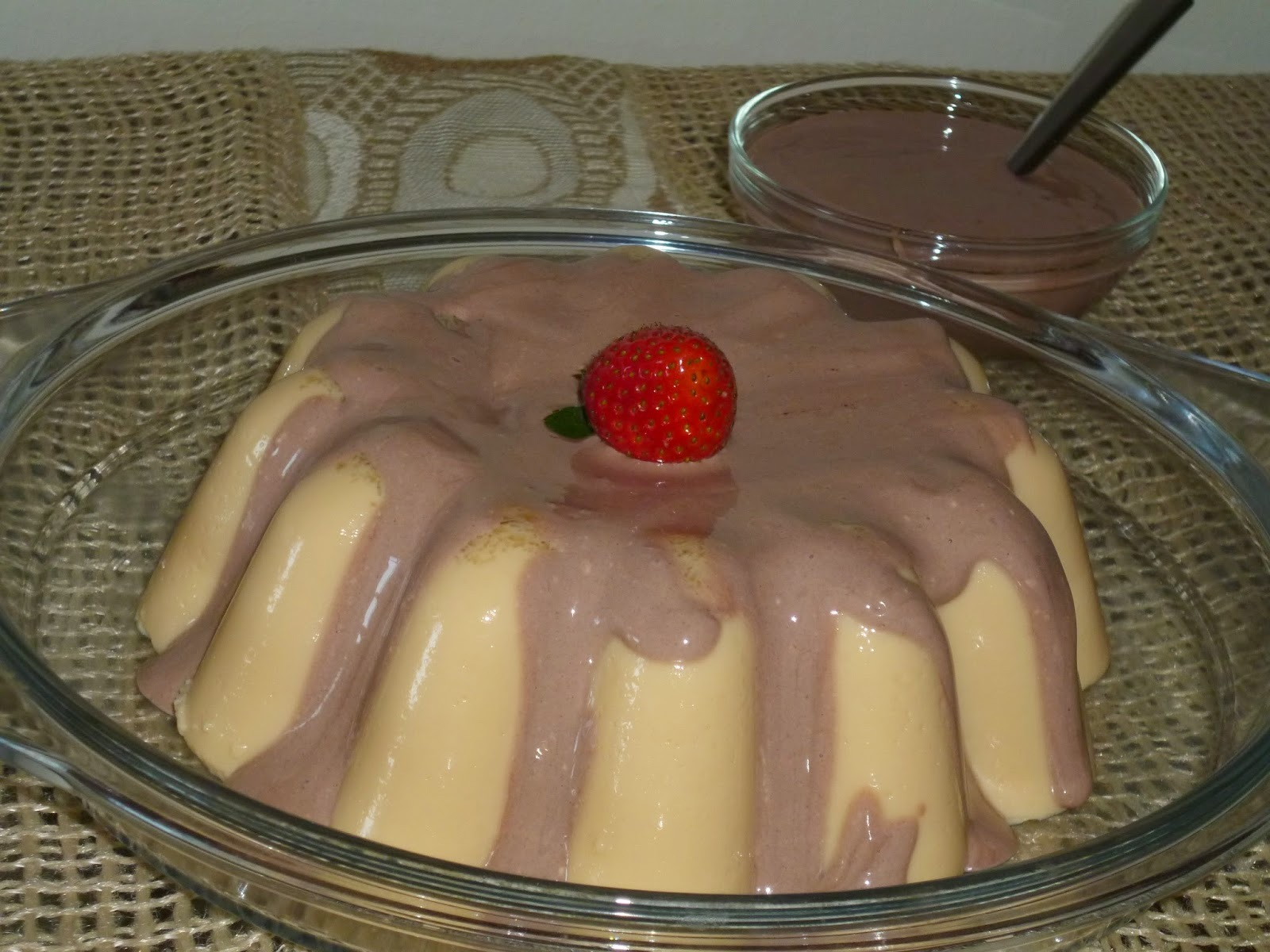 FLAN DE DOCE DE LEITE DIET E CREAM CHEESE