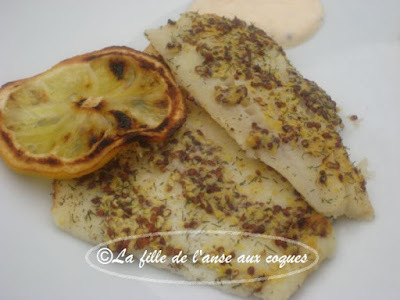 FILET DE SOLE EN CROÛTE DE MOUTARDE À L'ANCIENNE, AU CITRON