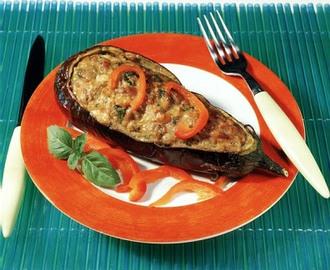 Recetas de berenjenas al horno con tomate y queso mytaste - Berenjenas rellenas al horno ...