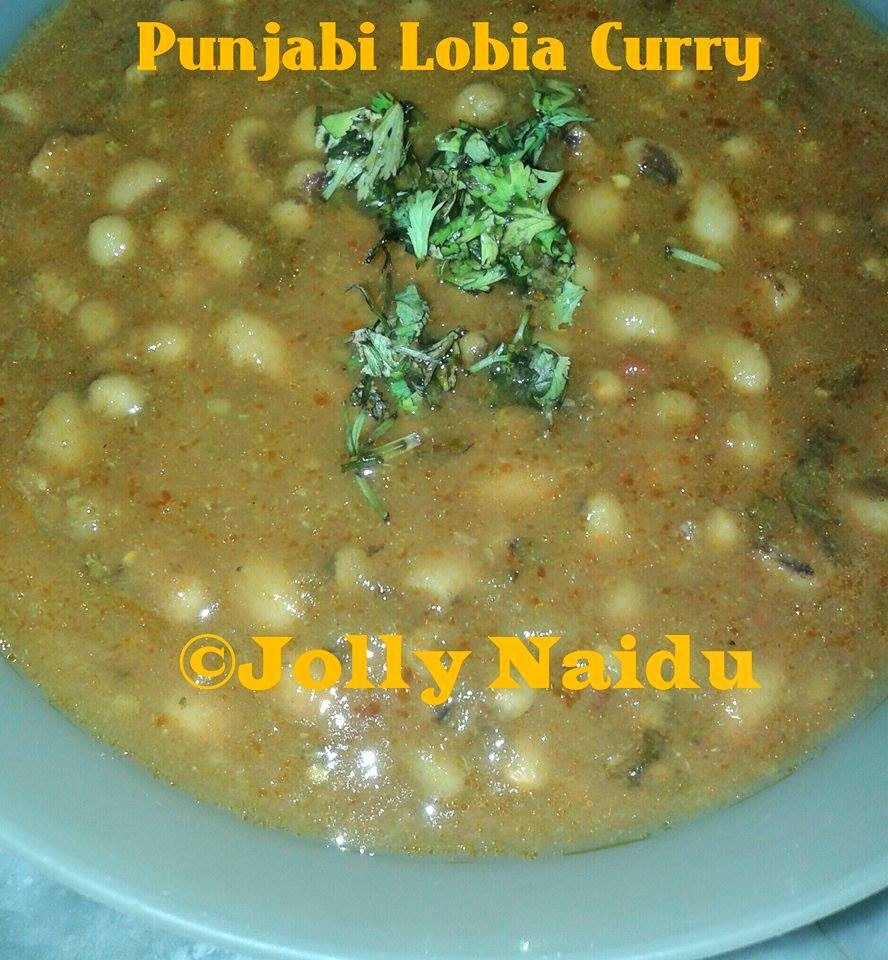 Punjabi Lobia Curry | Black-Eyed Peas Masala Recipe