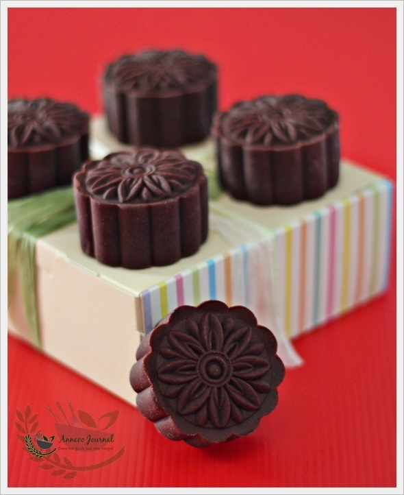 Baked Chocolate Mooncakes 烤巧克力皮月饼
