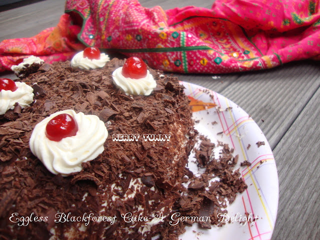 Eggless Blackforest Cake- A German Delight
