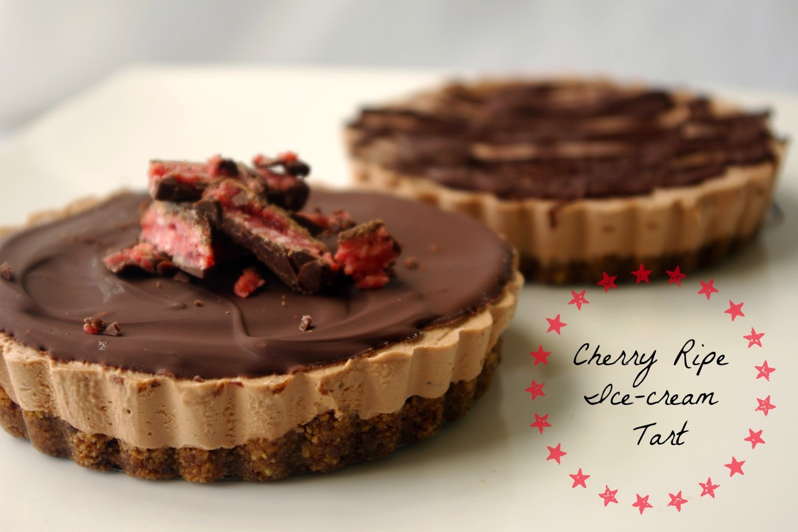 Cherry Ripe Ice-Cream Tart (using two-ingredient, no-churn ice-cream)
