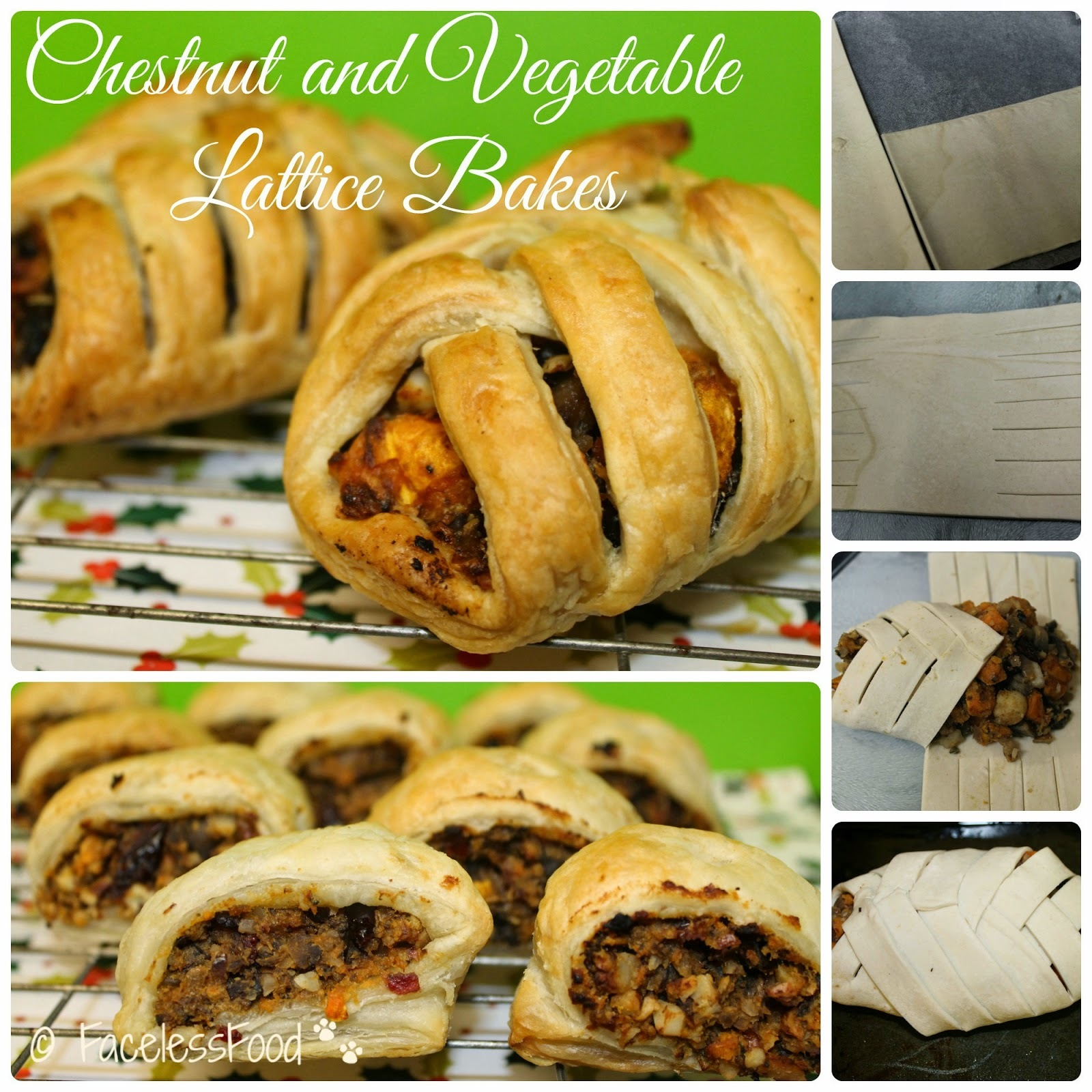 Chestnut and Vegetable Lattice Bakes