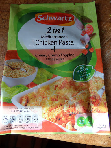 Schwartz 2 in 1 Mediterranean Chicken Pasta with Cheesy Crumb Topping review