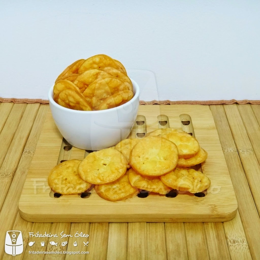 Chips de Provolone na AirFryer