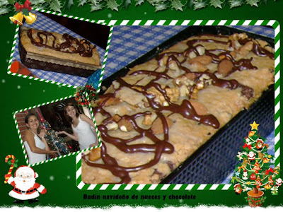 Budín navideño de nueces y chocolate