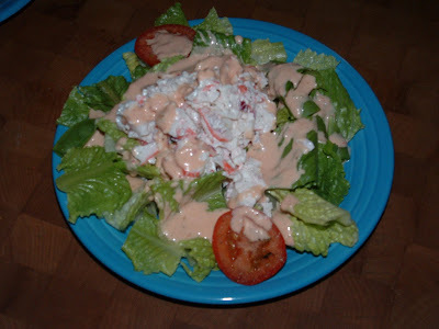 CRAB SALAD & HOMEMADE 1000 ISLAND DRESSING