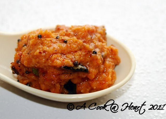 Kairi (Raw Mango) and Jaggery Chutney