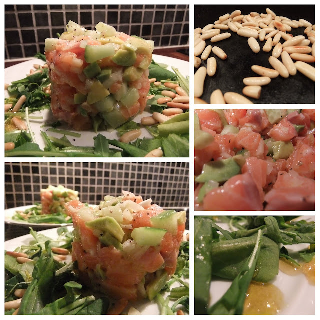 Salmon avocado tartar