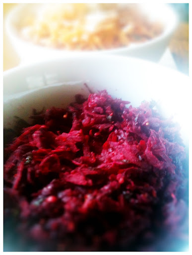 Fresh Beets with Coriander Seeds