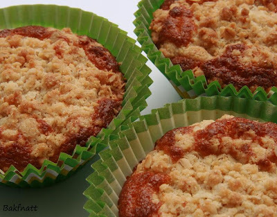 Rabarbermuffins med crumble