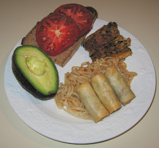 Organic Indian-Style Spring Rolls with Spicy Rice Noodles
