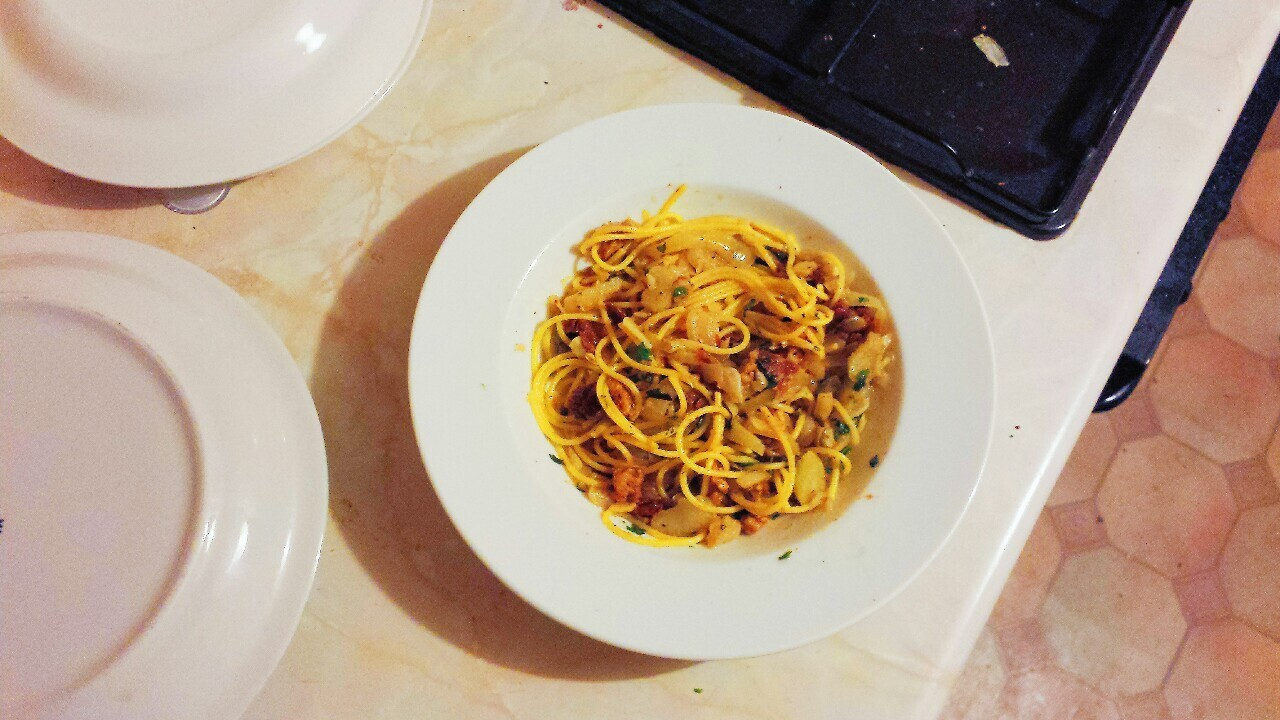 Fennel Spaghetti with Tempeh Sausage Crumble Lidl! Oh lidl! How...